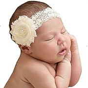 Miugle Baby Baptism Headbands Baby Girls Lace Headbands