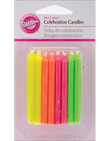 Wilton Birthday Candles 25 Inch Hot Colors 24 Pack