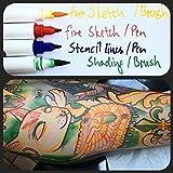 Skin Companion Twin Tip Tattoo Pen - 6+1 Free
