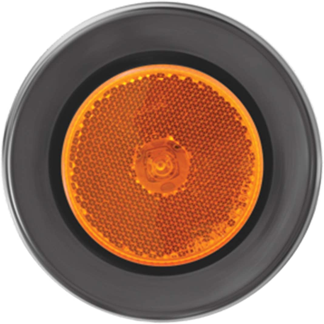 GG Grand General 76425 Marker Light 2.5 Amber 1 LED with Grommet and Pigtail