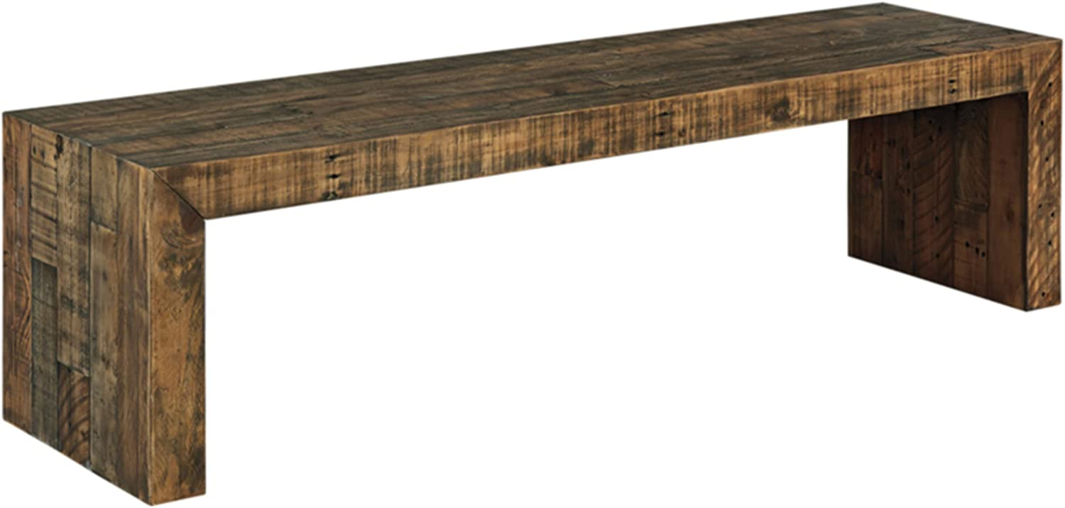 Amazon Com Signature Design By Ashley Sommerford Dining Room Bench Brown Table Benches