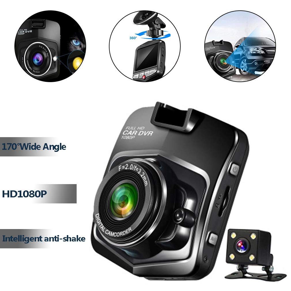 "1080P HD 2.4/"" Lcd Night Vision CCTV Car DVR Accident Camera Video Recorder B MT"