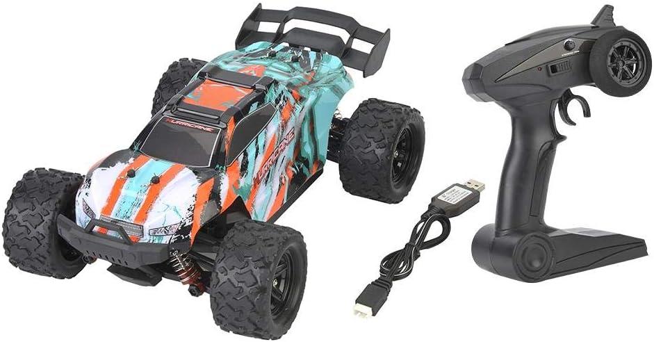 Plyisty RC Coche, Auto Control Remoto Off-Road Coche RC 2.4GHz 4WD 1/18 Velocidad Monstruo Coche de Carreras Eléctrico RC Buggy Truck 38-45km/h para niños Adultos(Verde)