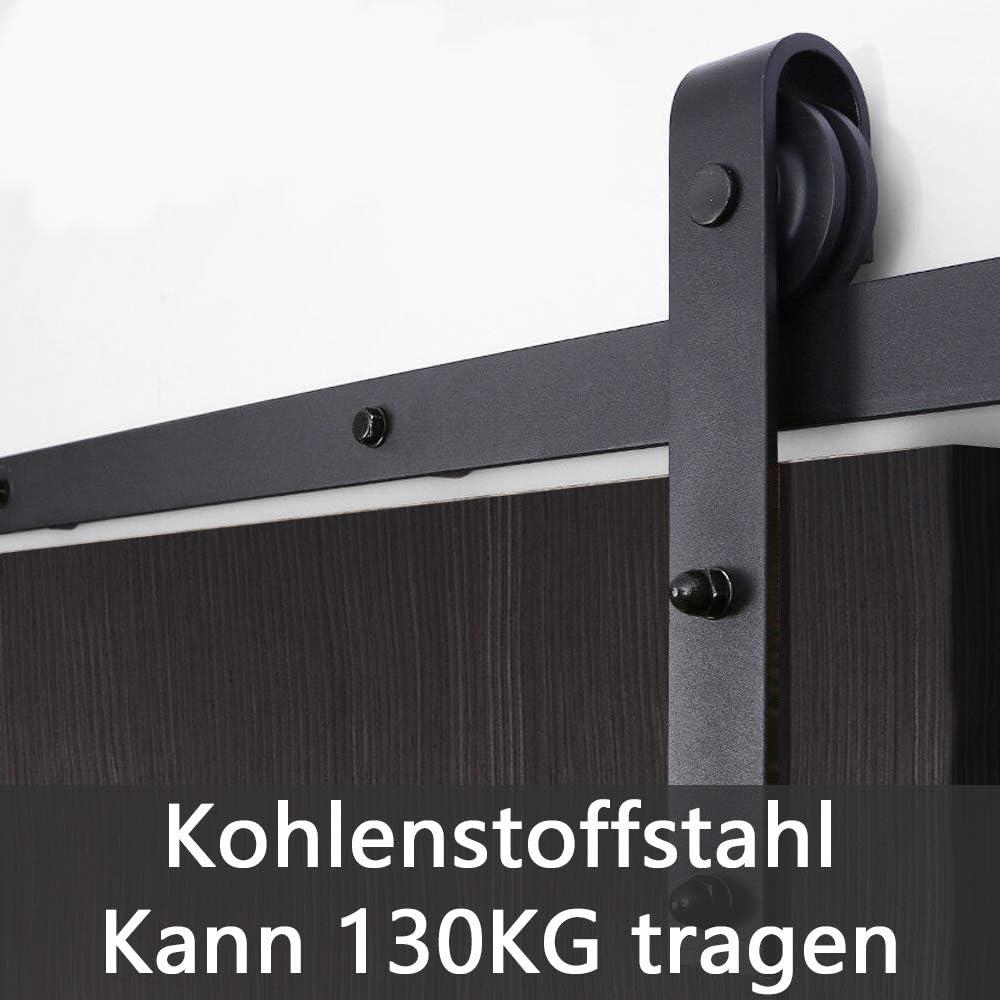 LeMeiZhiJia Schiebet/ürsystem Set inklusive Laufschiene Scheunent/ür Studient/ür 12ft 366cm Schiebet/ürbeschlag Schiebet/ür Zubeh/örteil f/ür K/üchent/ür