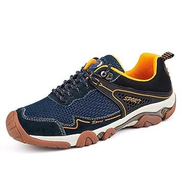 Hombre Zapatillas Trekking Senderismo Calzado con Cordones De Malla Zapatos Transpirables Verano Deporte Al Aire Libre Acampar Escalada Zapatillas ...
