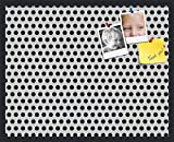 PinPix custom printed pin cork bulletin board made from canvas, Polka Dotted Wall Pattern 30 x 24 Inches (Completed Size) and framed in Satin Black (PinPix-200)