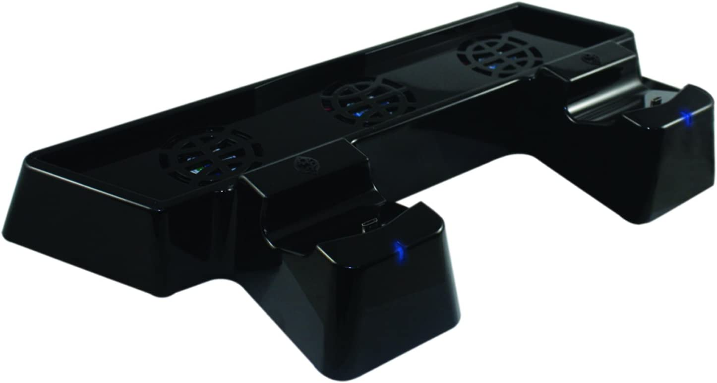 Collective Minds Cool N Charge Dual Controller Charger with Triple Fan Console Cooler and Glossy Vertical Stand by Collective Minds: Amazon.es: Videojuegos