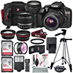 Canon EOS Rebel T6 DSLR Camera with EF S 18 55mm f 3 5 5 6 IS II Lens EF 75 300mm f 4 5 6 III Lens 64GB along with Fibertique Cleaning Cloth and Xpix cleaning Kit and Deluxe Accessory Bundle