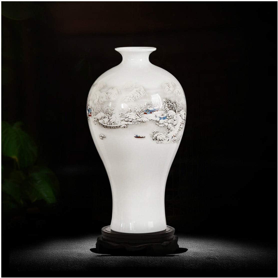 Amazon.com: xsacuikj White Ceramics Porcelain Vase Home Decoration