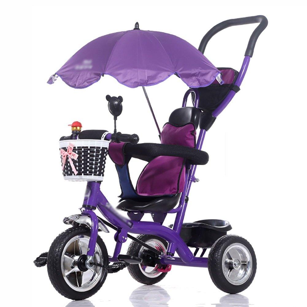3つの車輪三輪車の赤ちゃんキャリッジと親がプッシュハンドルベビーカーキッドペダルに乗ってバイクアウトドアトイカー B07F6X5HTK B07F6X5HTK Purple Purple, NetBabyWorld(ネットベビー):a5d2f234 --- rchagen.ru
