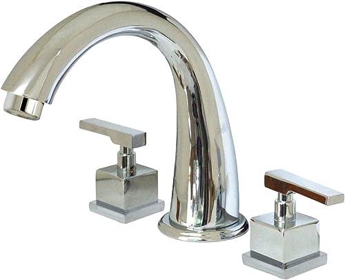 Kingston Brass KS2361QLL Executive Roman Tub Filler, Polished Chrome