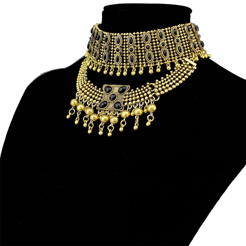 Tribal Tassel Pendant Statement Necklace Image 2