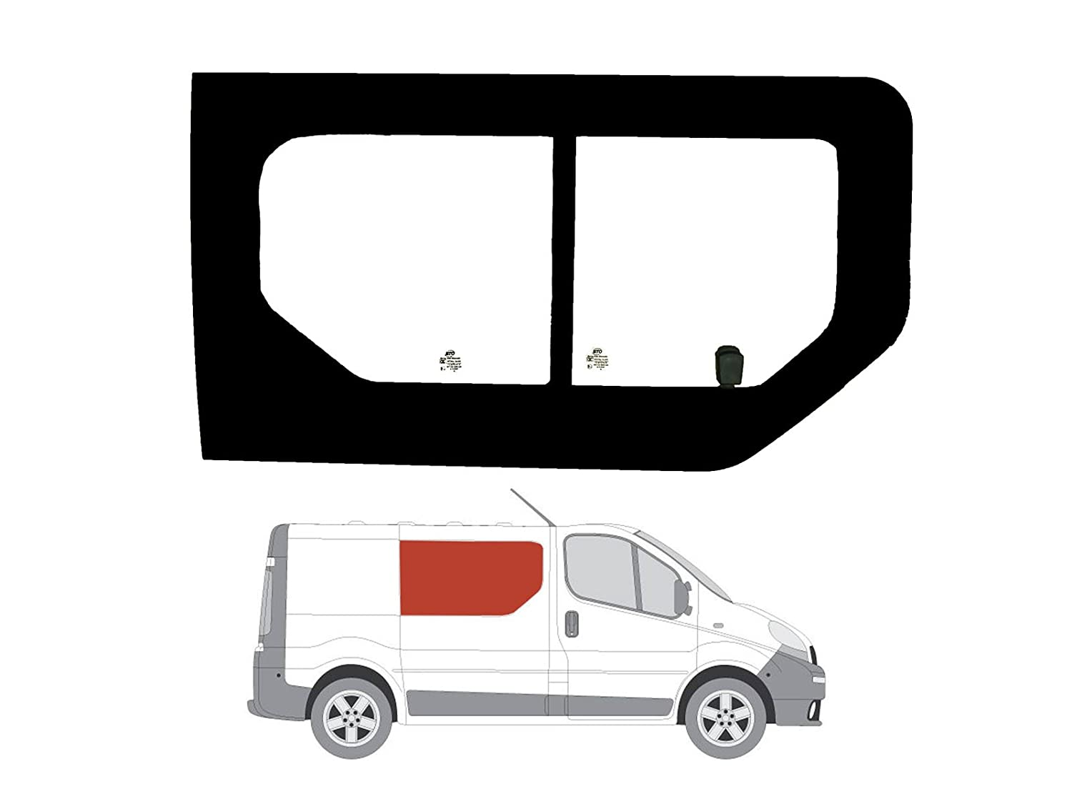 Right Driver side Wing mirror glass for Nissan Primastar 2001-2014