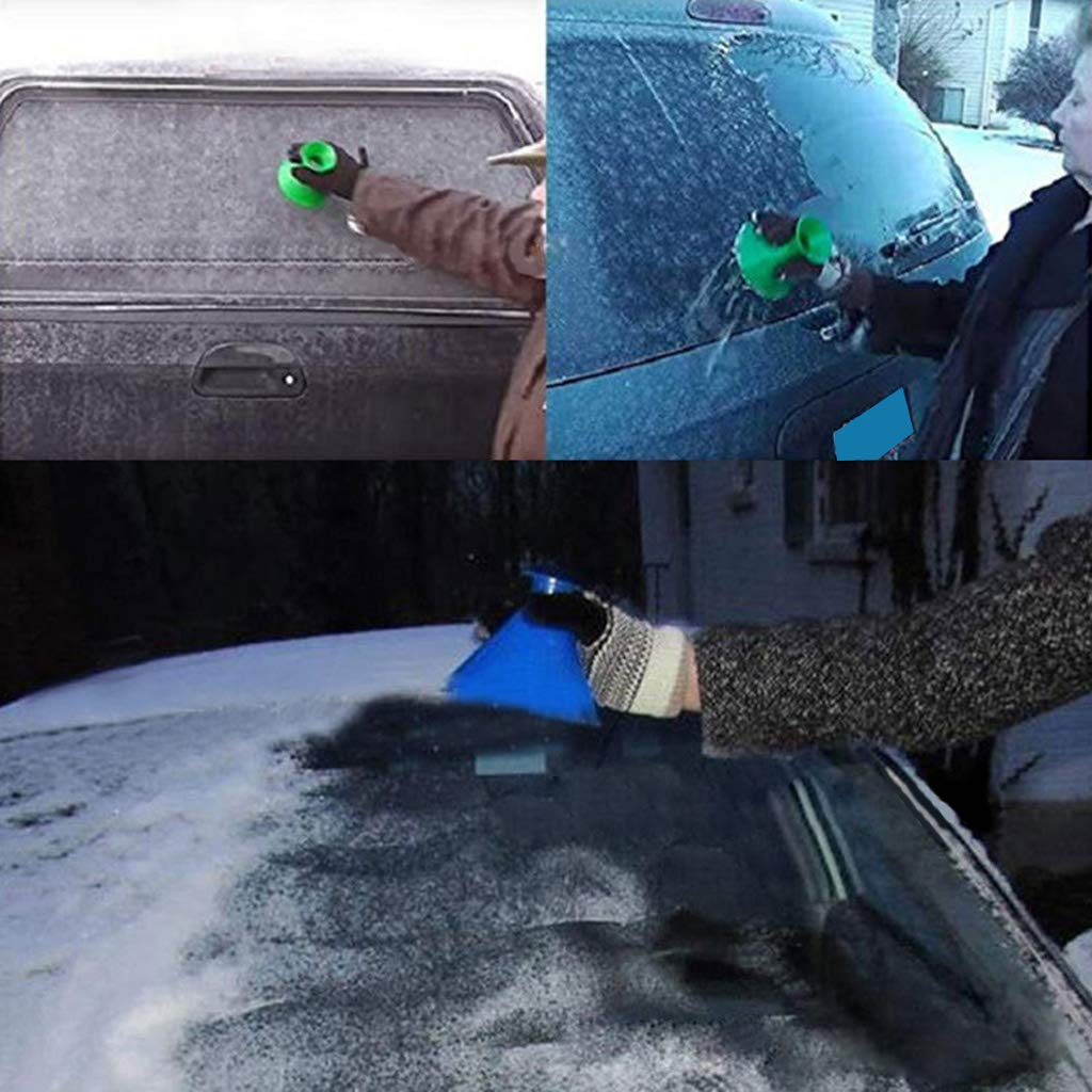 ZOOMY Windshield Ice Scrapers Car Windshield Ice Scrapers Car Snow Removal Shovel Tool Blue