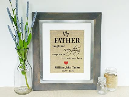 Prints Prints Prints DEATH OF FATHER Sympathy Gifts Condolence Gift for Loss of Father Death of