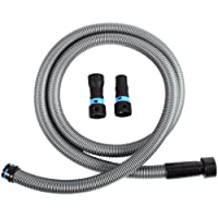 Cen-Tec Systems 94181 10 Ft. Hose for Home and Shop Vacuums with Multi-Brand Power Tool Adapter for Dust Collection, Silver
