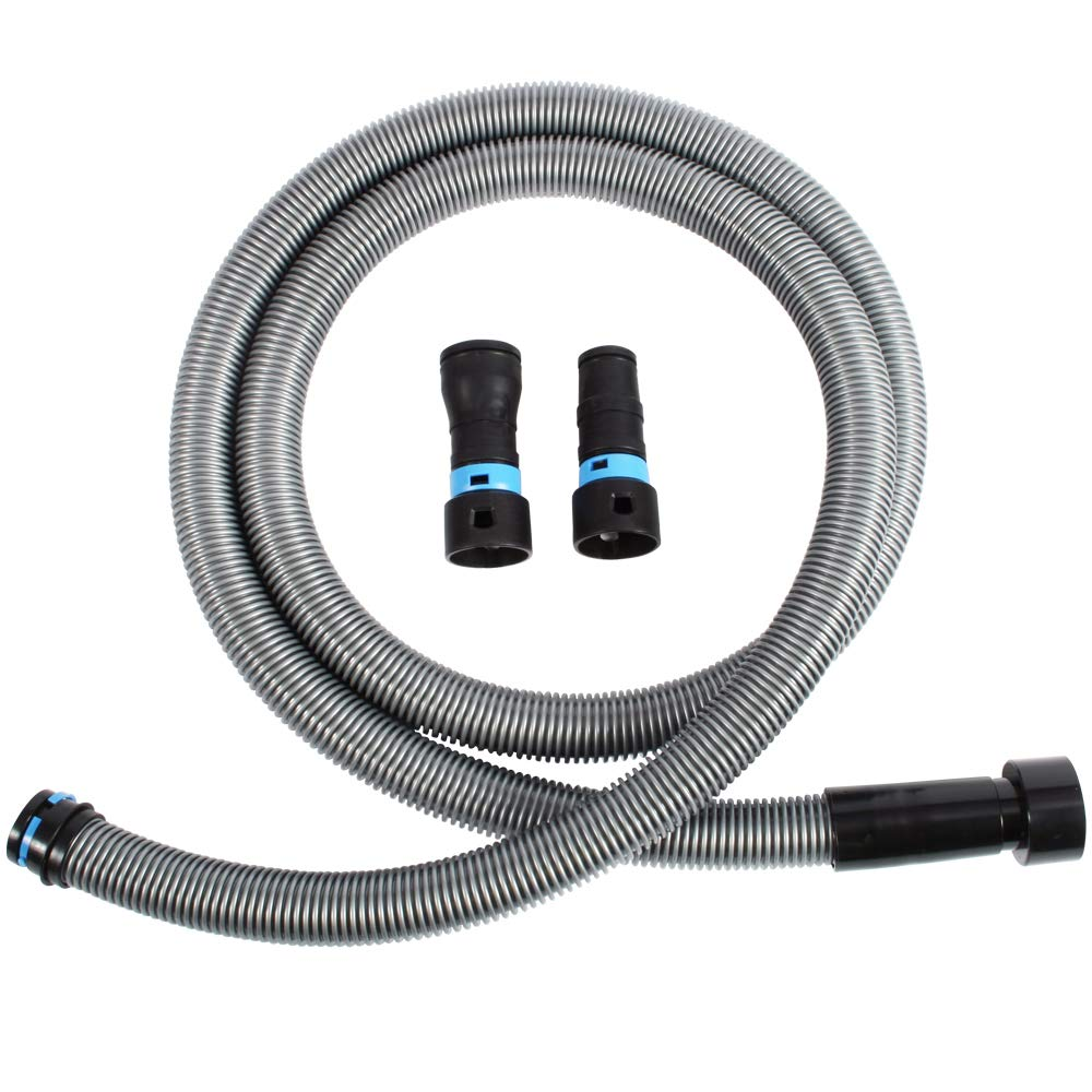 Cen-Tec Systems 94181 10 Ft. Hose for Home and Shop Vacuums with Universal Power Tool Adapter for Dust Collection, Silver