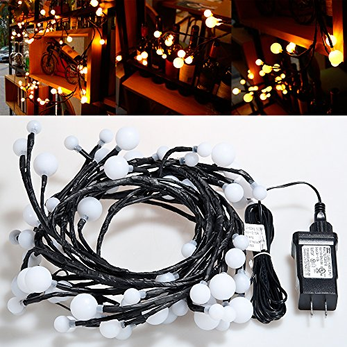 Lychee Freely DIY Ball string Led lights 7.5ft/72 Leds Halloween Christmas Home Seasonal decoration Led Lights Wedding,Party decorations Lights
