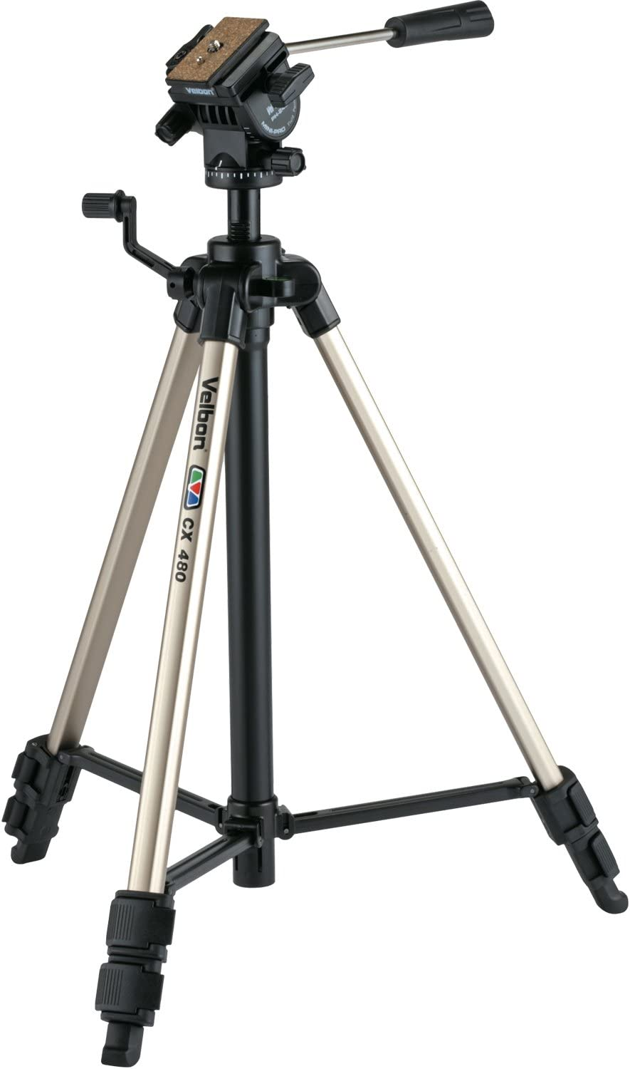 Velbon CX-480 2-Way Fluid Effect Smooth Motion Head Video Tripod With Quick Release Plate