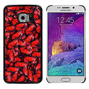 Paccase / SLIM PC / Aliminium Casa Carcasa Funda Case Cover para - Red Pattern Wing Blue - Samsung Galaxy S6 EDGE SM-G925