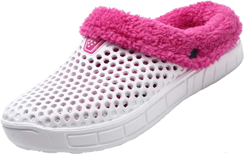 YUKTOPA Unisex Garden Clogs House Slippers Fur Lined Winter Breathable Walking Garden Shoes Warm Non-Slip Mule Footwear