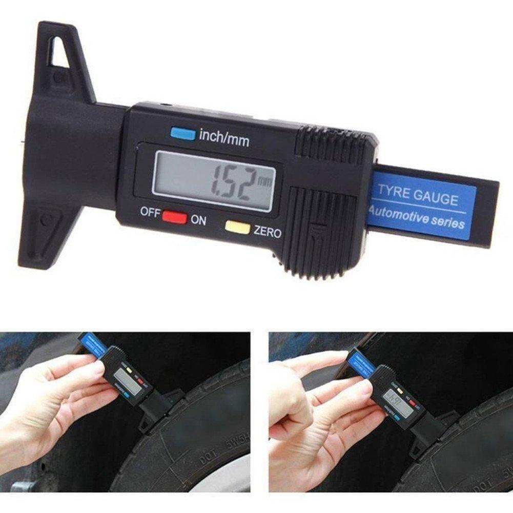 Colomba Misuratori di profondità Digitale per Auto Pneumatico 0-25.4mm con LCD Display Inch/mm Regolabile / Profondimetro Metrico Misuratore Spessore Professionale per Pneumatico Auto Camion Furgone Moto