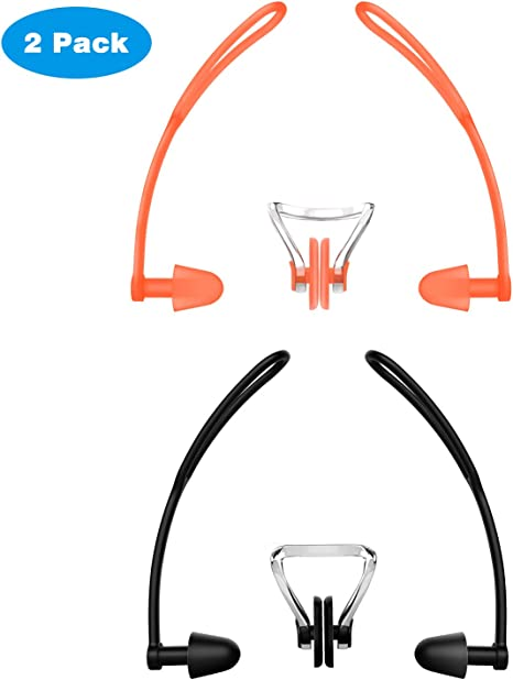 Waterproof Soft Silicone Swimming Set  Nose Clip+Ear Plug Earplug With Box TBO