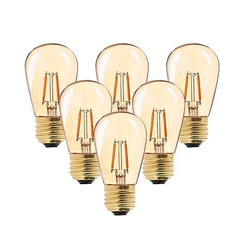 Century Light - Bombilla LED de filamento vintage, ST45, 1 W, sustituye a