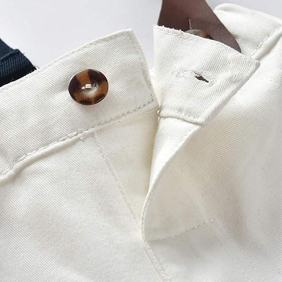 Mbby Bambino Elegante Camicia Manica Corta con Tie Pantaloncini Tinta Unita con Cinturino Tuta Bimbo Cerimonia 0-4 Anni Completo Estate Primavera 2 Pezzi Tute Cotone Ragazzo