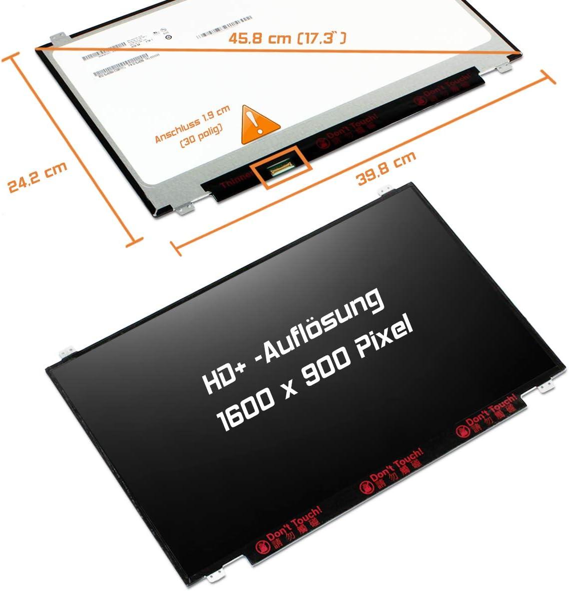 30pin Bildschirm Panel Laptiptop 17,3 LED Display Screen matt Ersatz f/ür HP 827047-001 1600x900 HD
