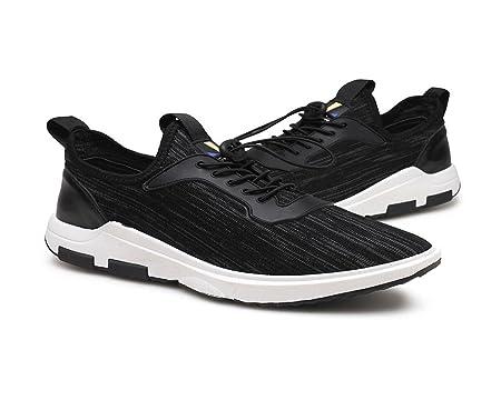 Männer Herbst und Winter Übung Schuhe Student Fliegender Stoff Vordergurt Atmungsaktiv Freizeit Schuhe , black , UK 7 / EU 40