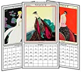 2018 vintage Vogue calendar with silk ribbons