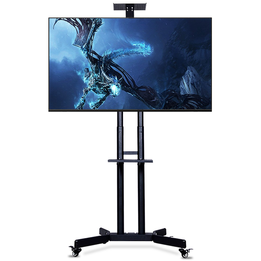 CNYF PTS002 TV Cart for LCD LED Plasma Flat Panel Stand w/Wheels Mobile fits 32