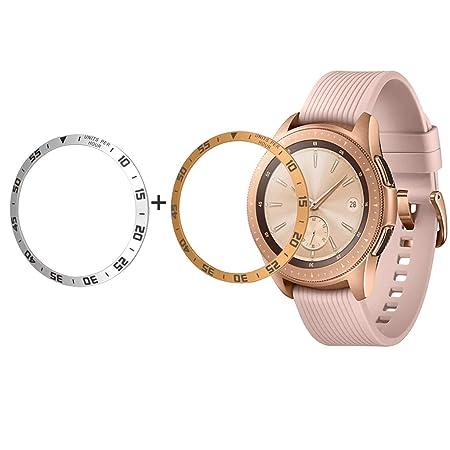 Bezel - Smartwatch para Galaxy Watch, 42 mm, 2 unidades, escala ...