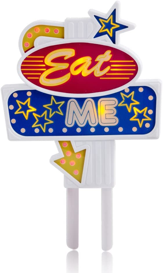 SUCK UK Flashing Food Topper (Eat me), multicolor