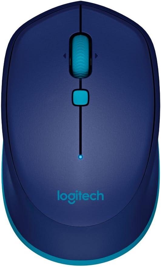 Logitech M535 Ratón Inalámbrico, Bluetooth, Sensor Láser Óptico 1000 DPI, Batería 10 Meses, PC/Mac/Portátil , Azul
