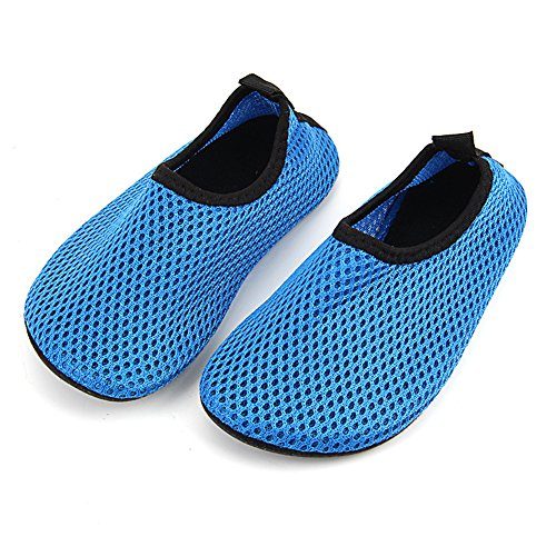 ECSEO Unisex Parent-Child Water Shoes Aqua Socks for Beach Swimming Yoga Sports-Fitness Breathable Flats Child-Blue lzzWCP6Lx