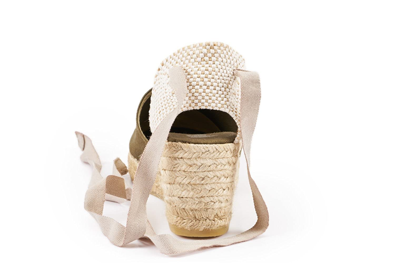VISCATA Ebene 2.5 Heel, Soft Ankle-Tie, Closed Toe, Classic Espadrilles Olivgrün Heel Made in Spain, Olivgrün Espadrilles - 35 EU M - 632040