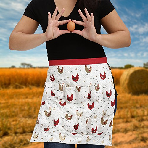 Chicken Egg Collecting & Gathering Apron 12 Pockets by Cackleberry Home, Farmhouse Chicken by Cackleberry Home (Image #6)