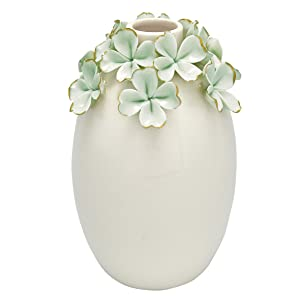 Greengate CERVASLFLW3904 Flower Pale Vase Vert 15 cm