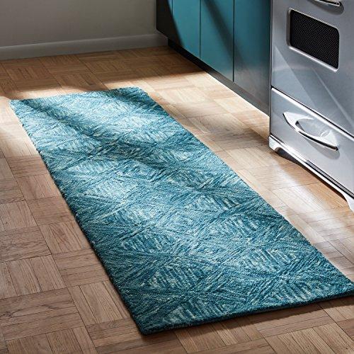 (Rivet Motion Modern Patterned Wool Runner Rug, 2' 3