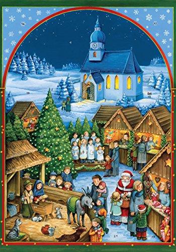 Coppenrath Unique Traditional Advent Christmas Calendar - Premium Made in Germany - Quaint German Christmas Village Market
