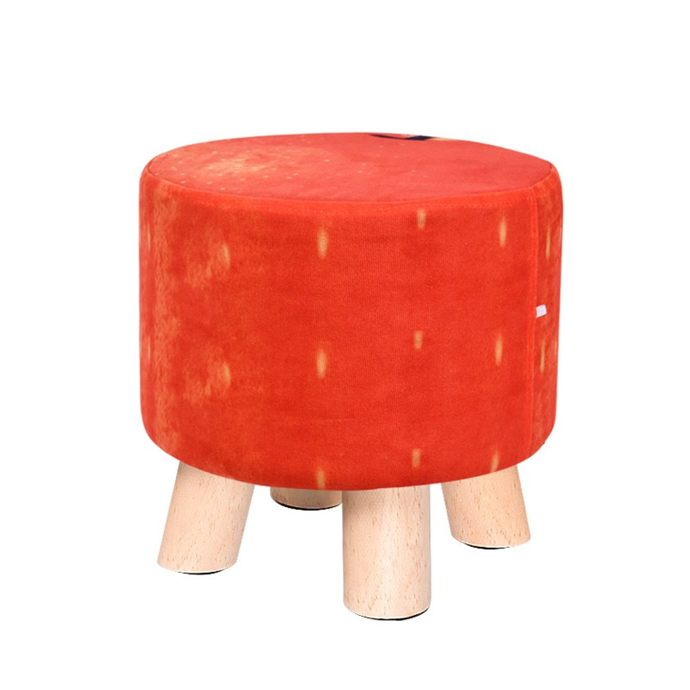 Living room sofa stool/Solid wood shoes bench Fabric fruit stool/Home coffee table stool Multifunctional footstool/Bed stool Solid wood stools/Creative shoe bench/Stool/2928cm (Color : F)