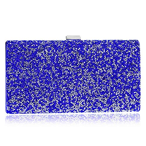 Dress Wedding Chain Purse Bags Ladies Blue Evening Wallet Bags Clutch Womens Shoulder vqRgv01FS