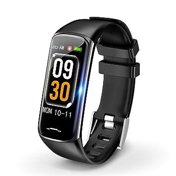 54d2a55010 Amazon | スマートウォッチ 2019 最新版 心拍計 活動量計 歩数計 腕時計 ...