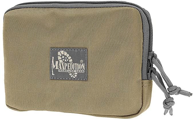 Maxpedition Hook-and-Loop 5-Inch x 7-Inch Zipper Pocket (Khaki-Foliage)