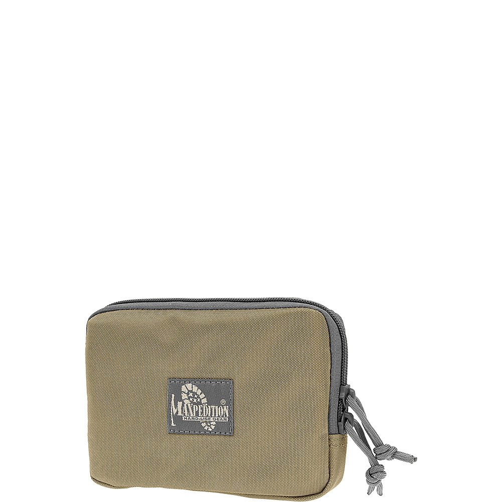Hook-& -Loop 5 x 7 Zipper Pocket (Khaki Maxpedition 1412