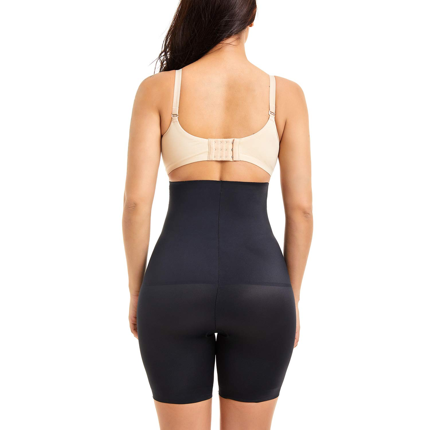 COHTB Womens Shapewear Hi-Waist Brief Firm Tummy Control Body Shaper Shorts Thigh Slimmer