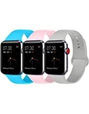 ATUP Compatible with for Apple Watch Band 38mm 40mm 42mm 44mm Women Men, Soft Silicone Replacement Bands Strap for iWatch Apple Watch Series 4, Series 3, Series 2, Series 1