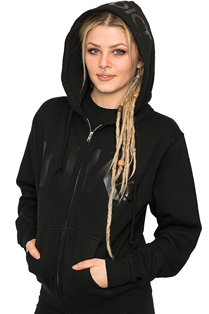 7fa6bc074a91 Ink Addict Ink Black Collection Women s Zip Hoodie at Amazon Women s  Clothing store